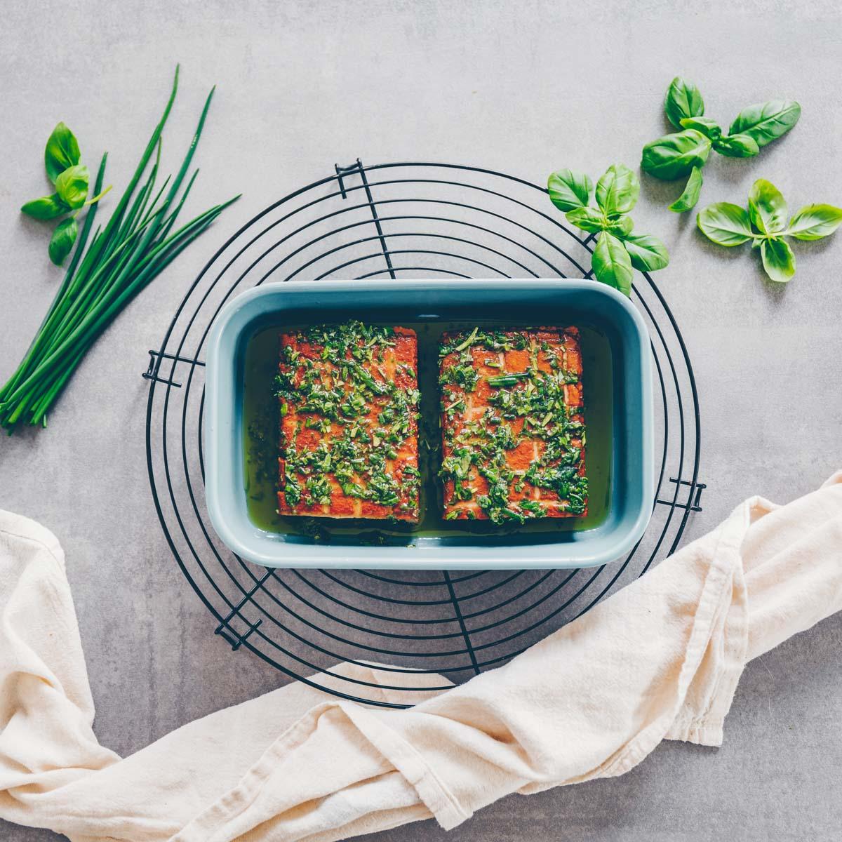Tofu mit Pistazienkruste