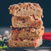 Rhabarberkuchen mit Streusel - vegan