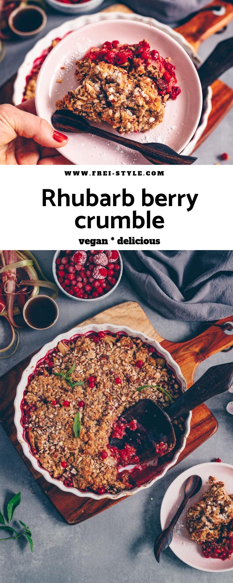 Berry Rhubarb Crumble