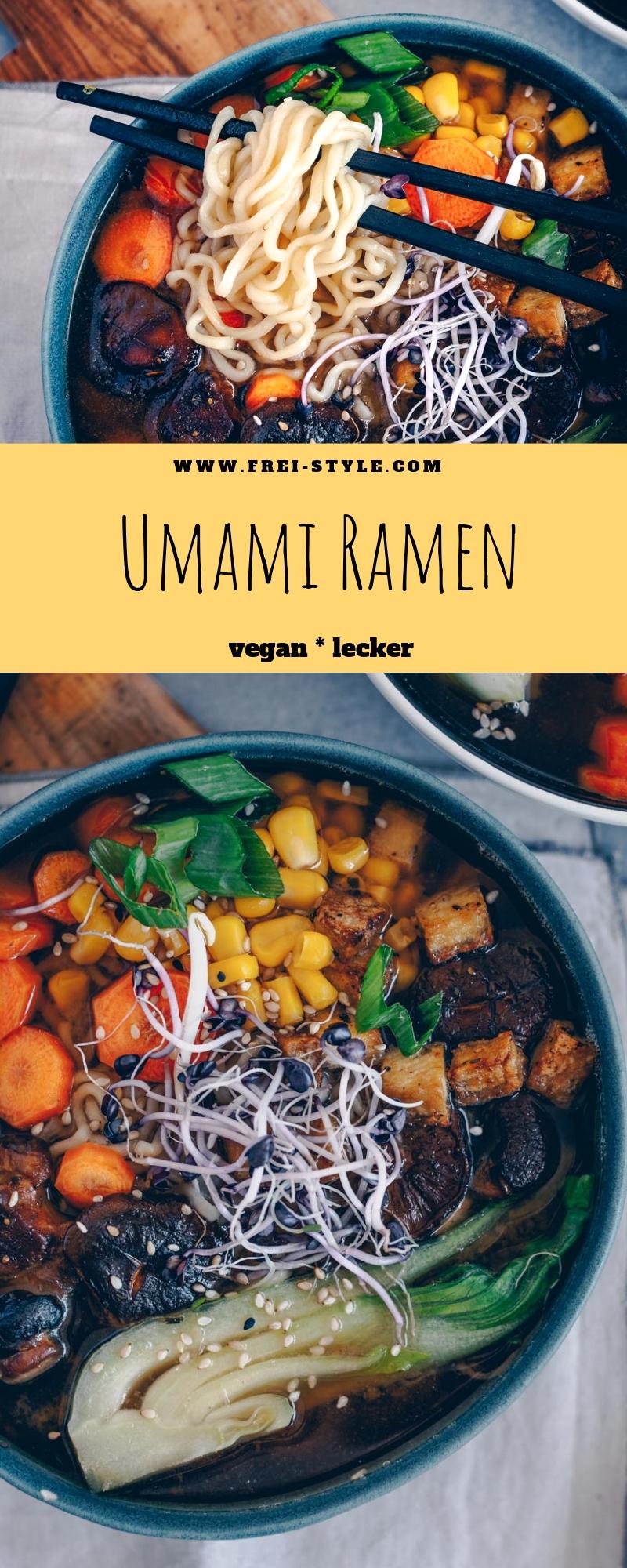 Umami Ramen - japanische Nudelsuppe vegan