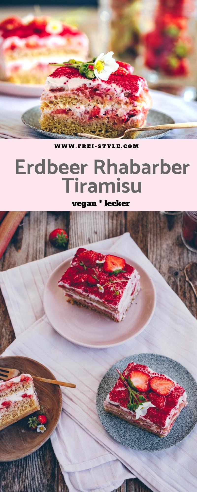 Erdbeeren Tiramisu vegan