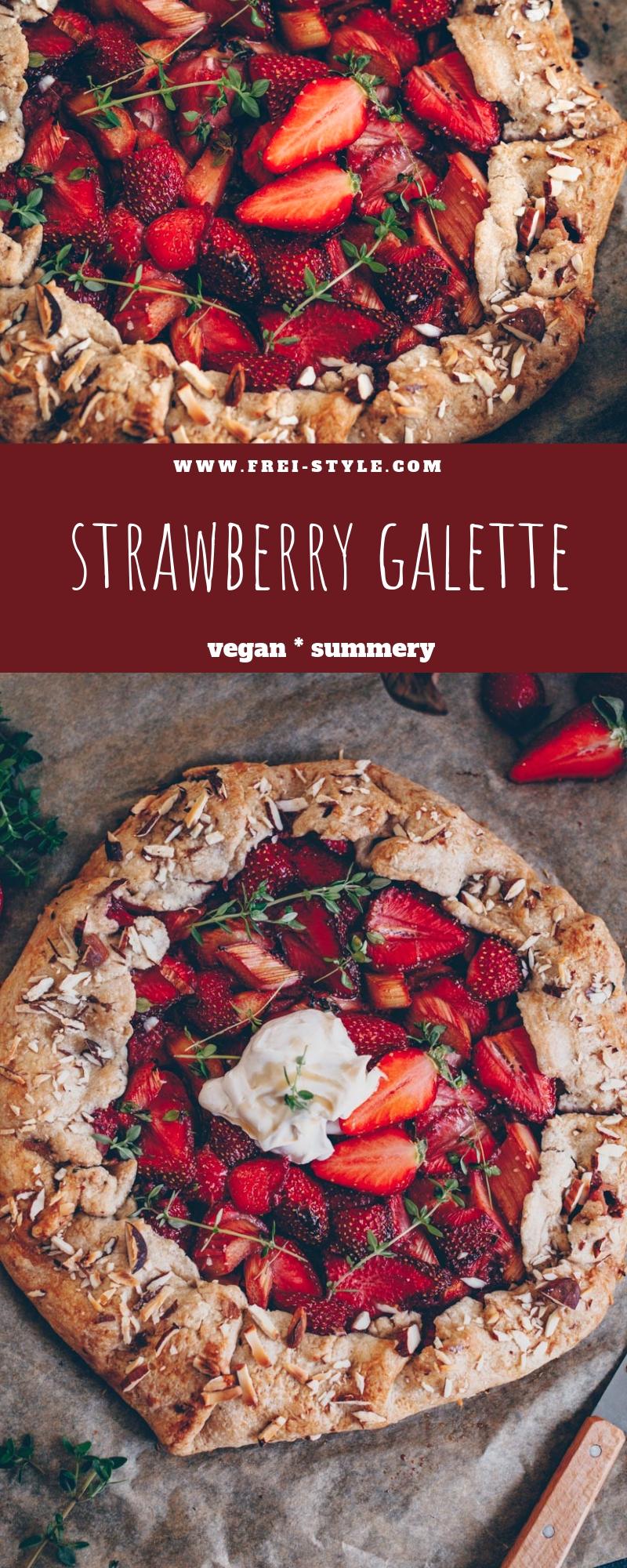 Vegan strawberry Galette