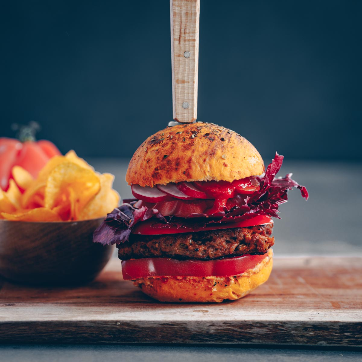 Tomaten Burger-Bun