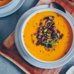 Pumpkin soup with pears
