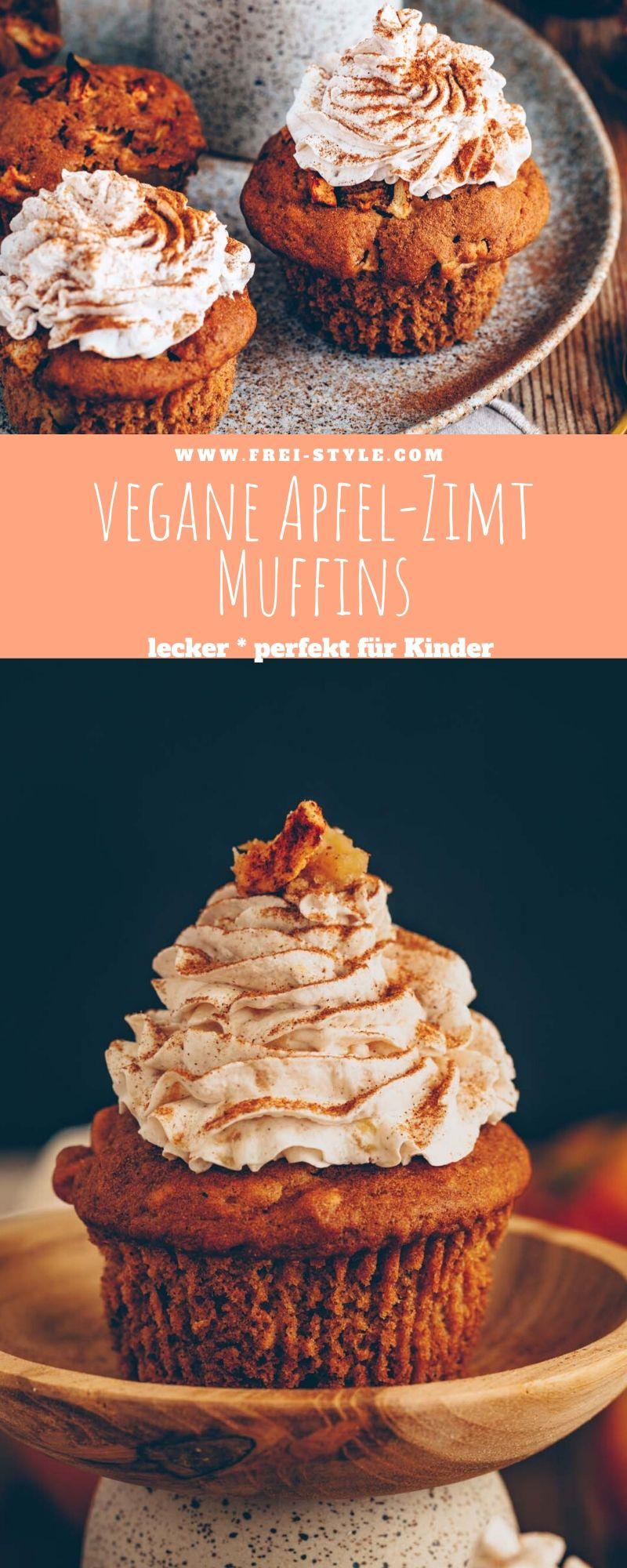 Vegane Apfel-Zimt Muffins