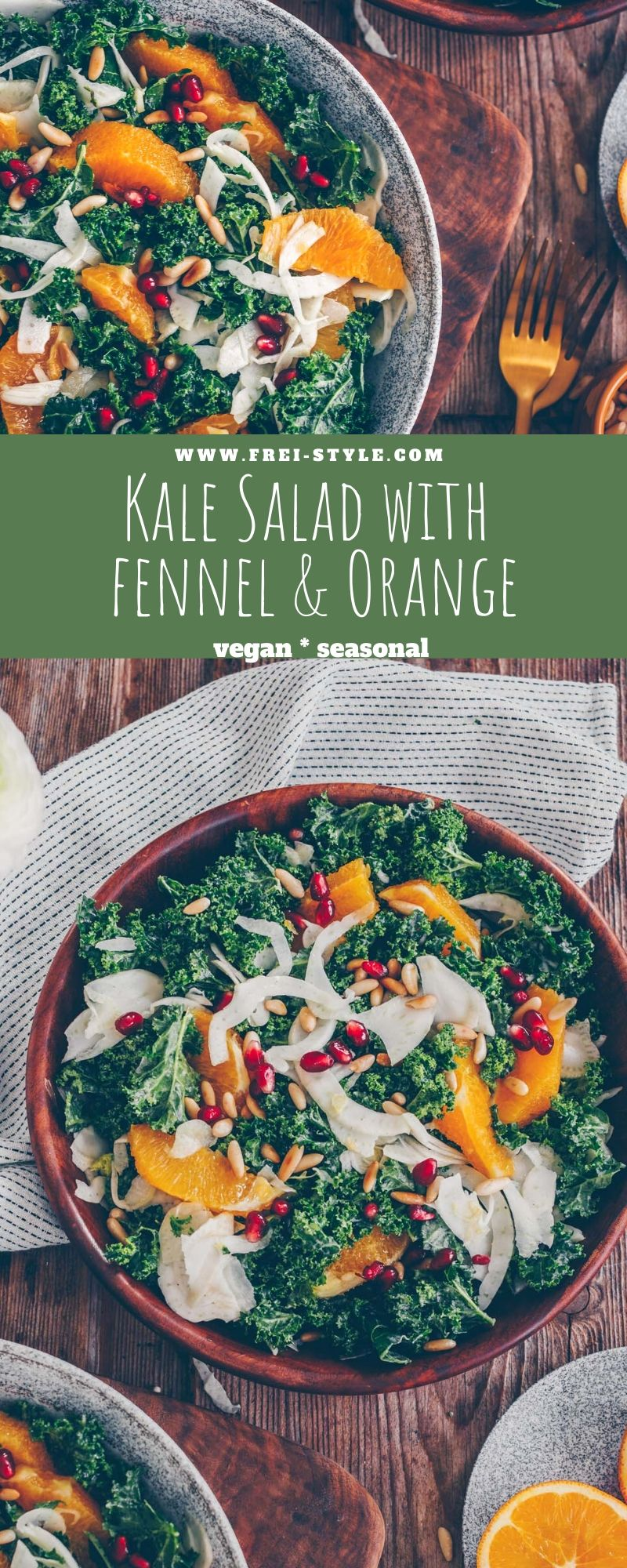 Kale salad with orange and fennel