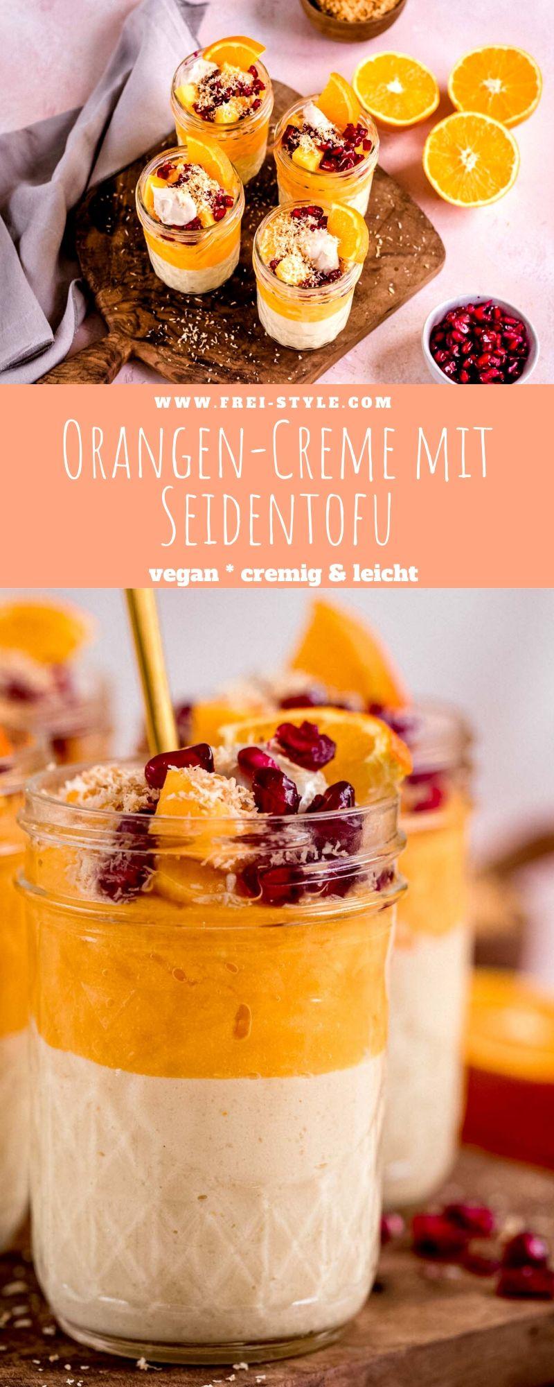 Orangen-Creme mit Seidentofu