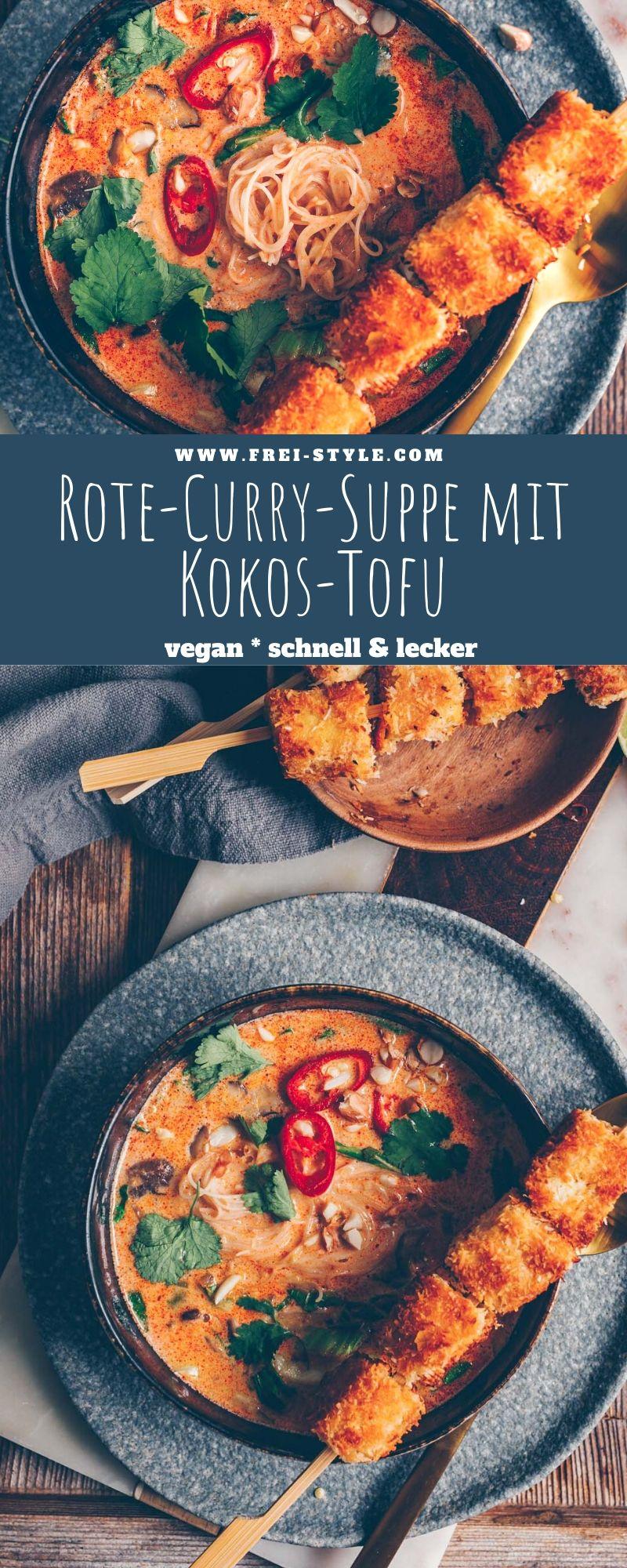 Rote-Curry-Suppe mit Kokos-Tofu