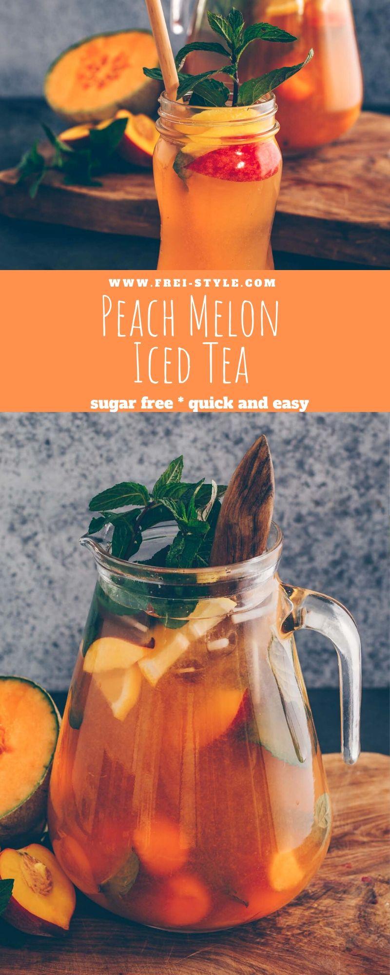Peach Melon iced tea