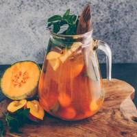 Pfirsich-Melone Eistee