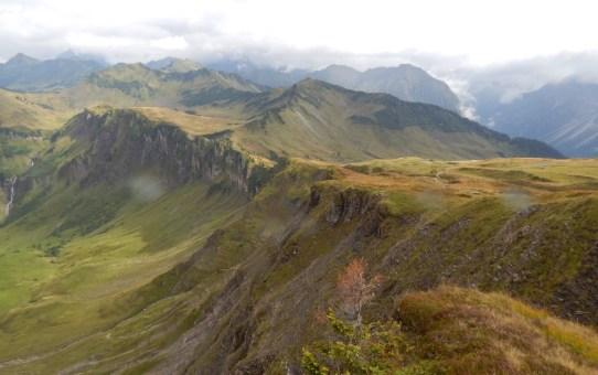Kleinwalsertal : Diedamskopf Mittelstation zur Bergstation über Breitenalpe, Falzalpe, Neuhornbachjoch und Kreuzle