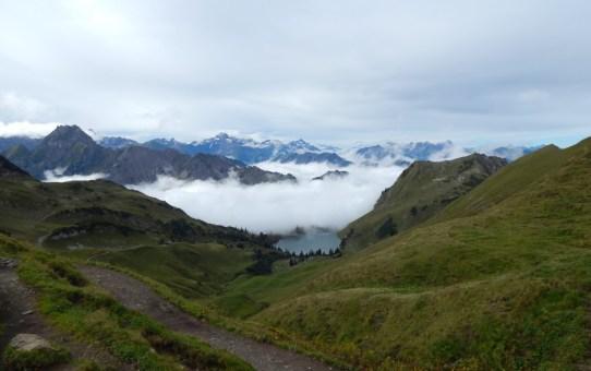 Oberallgäu : Nebelhorn Mittelstation zum Laufacher Eck über Großer Seekopf, Kleiner Seekopf und Schoch