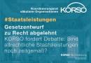 Altrechtliche Staatsleistungen: KORSO begrüßt Ablehnung der vorliegenden Gesetzentwürfe