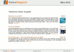 freiesMagazin 03/2010 Titelseite