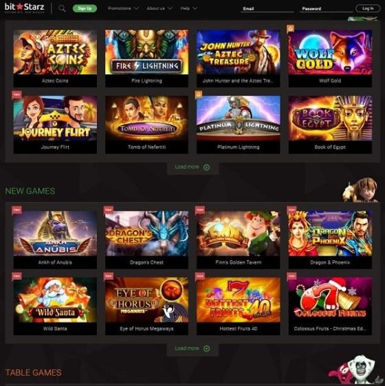 BitStarz Slots, Table Games, Live Dealer, Jackpots