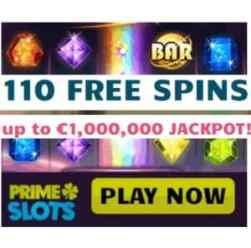 Prime Slots - 110 gratis spins on Starburst - no deposit bonus