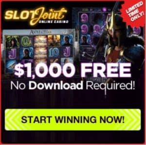 SlotJoint Casino - 400% welcome bonus and gratis free spins!