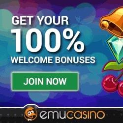 EmuCasino | 100 gratis spins + 300€ bonus on jackpot games!