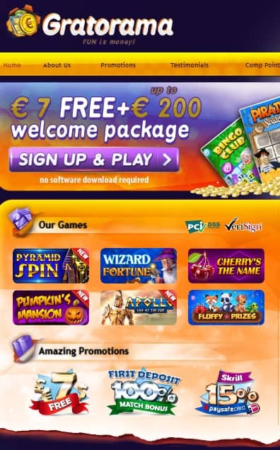 Gratorama.com Casino free bonus