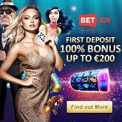 BETJOY Casino - 25 free spins on registration - no deposit bonus