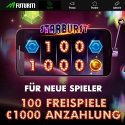 Casino FUTURITI 200 freispiele + €1,000 gratis bonus | Play for free!