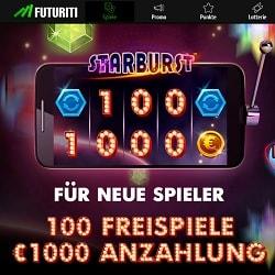 Casino FUTURITI 200 freispiele + €1,000 gratis bonus | Play for free!