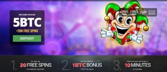 Bitstarz.com 20 free spins no deposit bonus (after registration)