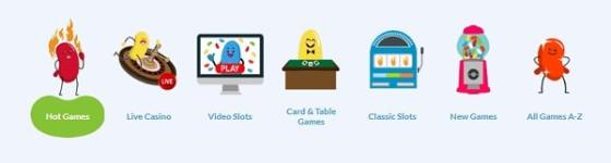 Jelly Bean Casino slots, table games, live dealer, poker