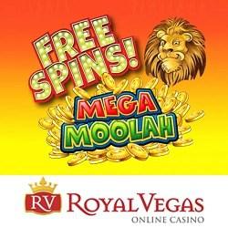 120 Freispiele für Mega Moolah jackpot im Royal Vegas Casino