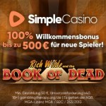 Simple Casino [Rezension] 100% up to €500 Willkommensbonus