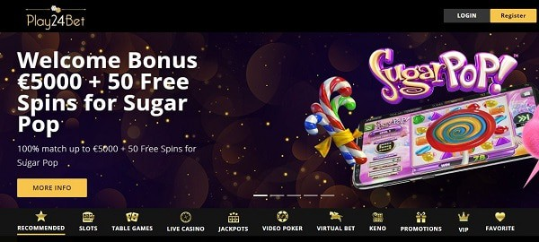 Play24Bet Casino free bonus code