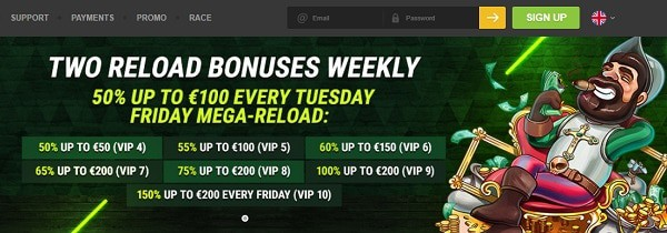 Weekly and Reload Bonuses, Cashback, Birthday Promotions