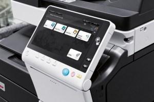 Ein All-In-One-Drucker mit farbigem Touch-Display und zahlreichen Zusatzfunktionen wie Scanner und Fax