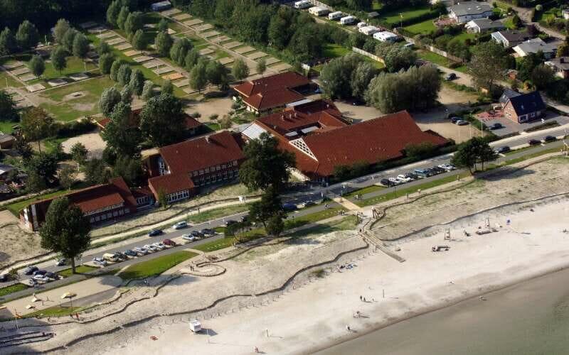 Ein Blick aus der Vogelperspektive auf die Unterkunft JH Scharbeutz