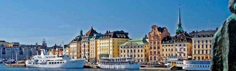 Klassenfahrt Stockholm am Hafen