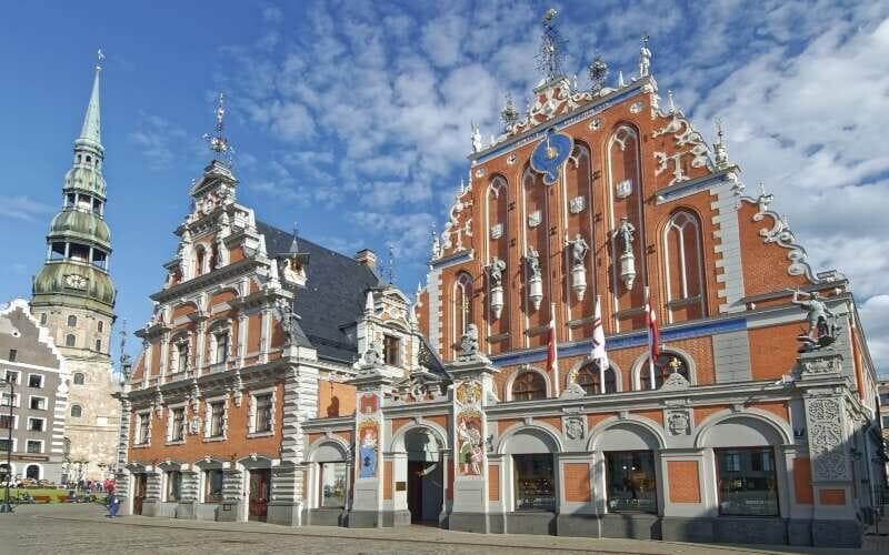 Schwarzhäupterhaus Riga Fassade