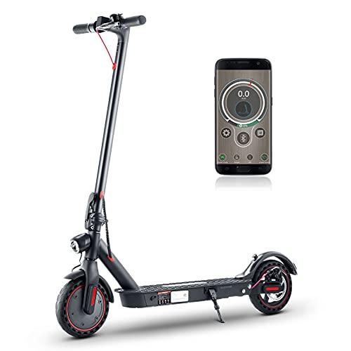 isinwheel i9 Pro E Scooter - Application Control, 350W Motor, 30km Langstrecken Elektro Scooter, Höchstgeschwindigkeit bis 30 km/h, Vollgummireifen 8,5 Zoll Elektroroller Scooter