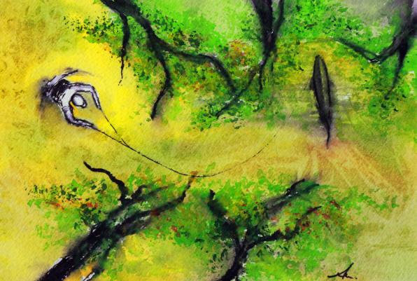 Beechforestswatercolor