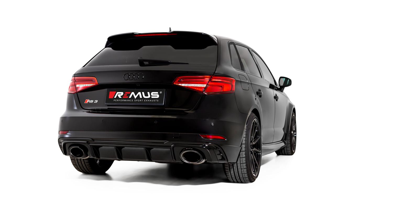 french power carstyling tuning remus opf back klappen abgasanlage fur audi rs3 typ 8v 294kw sportback und limousine mit opf