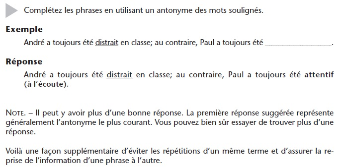 French_Vocabulary_Exercise_3