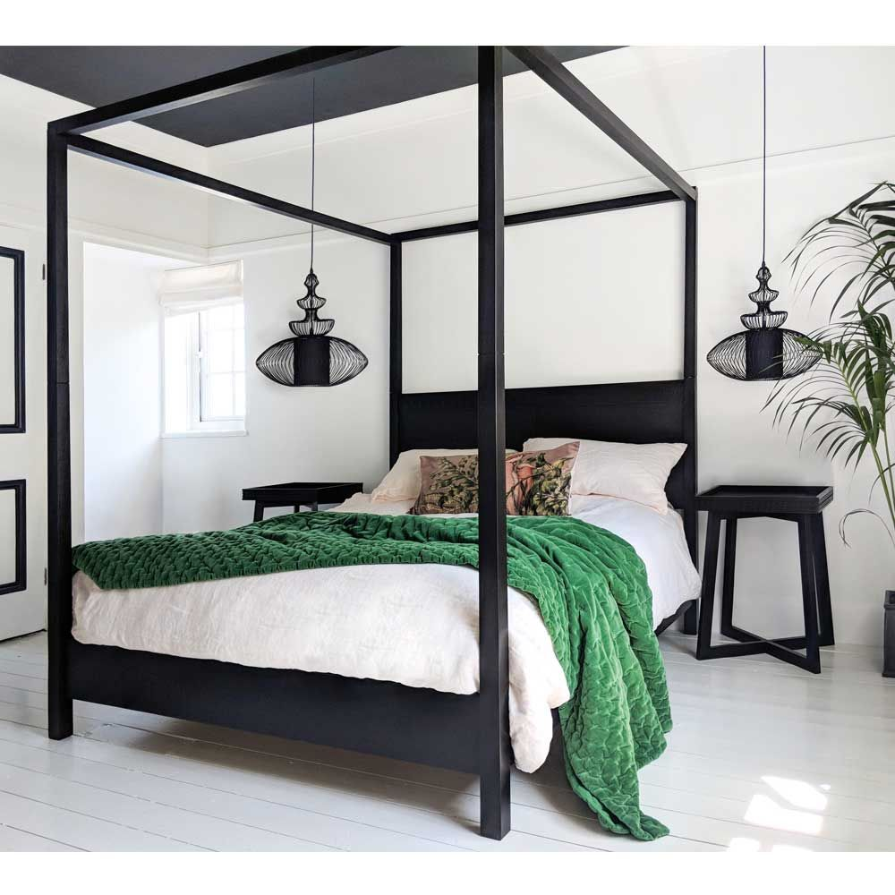 the hedonist black 4 poster bed king