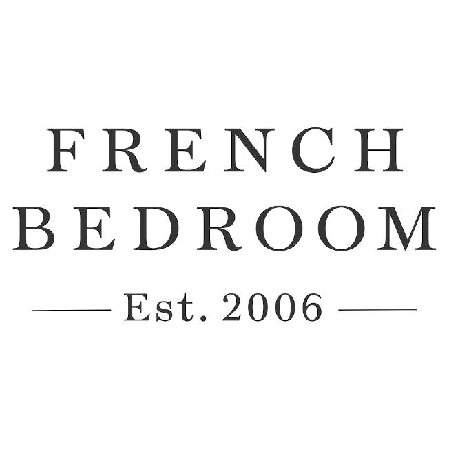 olivia french blue ruffled linen cushion