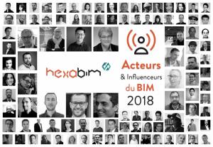 TOP 100 Acteurs et Influenceurs du BIM en 2018 par HEXABIM