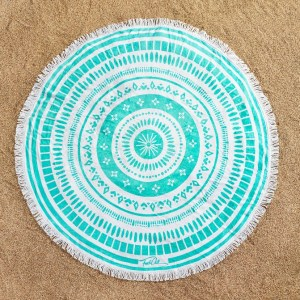 mandala-turquoise-frenchchill-serviette-ronde-france