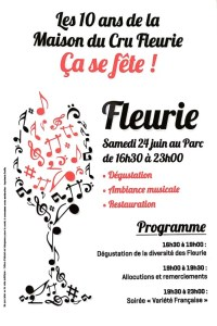 Fleurie poster