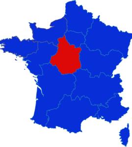 Centre- Val-de-Loire map