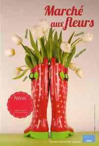 Nerac Flower Market poster
