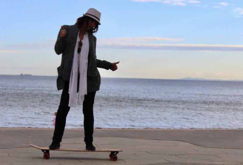 Caroline St Kilda skating