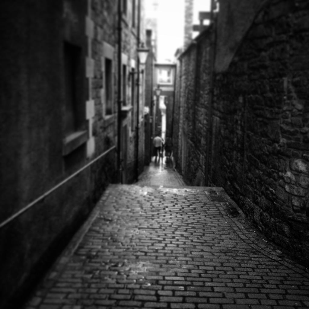 Un close de la vieille ville d'Edimbourg.