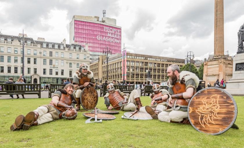 Trinquer avec des Vikings des Shetland à Glasgow